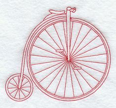 Penny Farthing (Redwork)