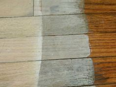 Spunky Real Deals: Annie Sloan chalk paint whitewashed floors {Updates}