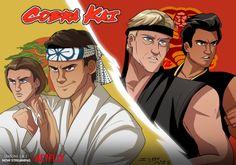 Cobra Kai Wallpaper, Cobra Kai Dojo, D Mark, Karate Kid Cobra Kai, Miyagi, Movies Showing, Godzilla, Golden Jaguar, Fan Art