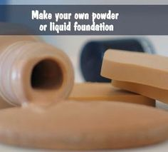 DIY Foundation Recipe.  Includes directions for both liquid and powder.