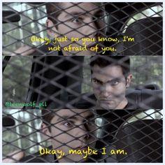 Hahaha! Stiles & Derek - Season 1 - Teen Wolf. <3 I love that part