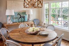 Massucco Warner Miller • Residential • Newport Beach Residence. Beach Living. Bistro Chairs. Driftwood Lamps.