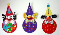 Faschingsdekorationen im Kindergarten - Hľadať Googlom Clown Crafts, Circus Crafts, Circus Art, Circus Theme, Diy And Crafts, Crafts For Kids, Arts And Crafts, Paper Crafts, Diy Butterfly Costume