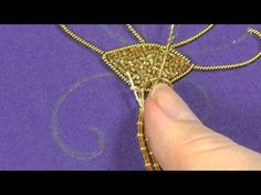 Goldwork embroidery tutorial. Part 4 - couching gold threads. - YouTube