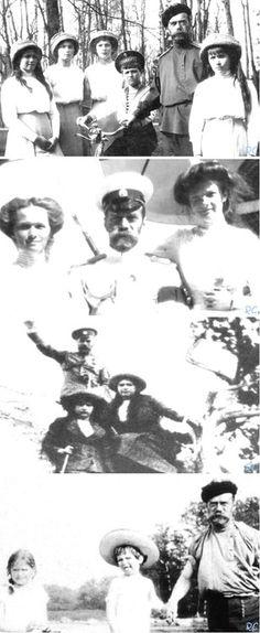 Nicholas Romanov and his Children.