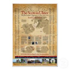 """Scottish surnames in Ulster poster. I """"need"""" this!"""