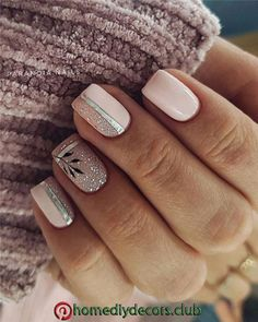 latest and hottest french nail art designs ideas 2019 17 Latest Nail Designs, Short Nail Designs, Square Nail Designs, Pink Nail Designs, Nail Manicure, Gel Nails, Nail Polish, Pastel Nails, Pink Nails