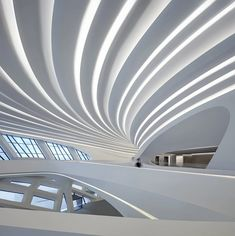 zaha hadid architects (ZHA) has shared the first images of the changsha meixihu international culture & arts centre, a spectacular complex in china. Zaha Hadid Architecture, Le Corbusier Architecture, Zaha Hadid Buildings, Zaha Hadid Interior, Landscape Architecture Drawing, Cultural Architecture, Chinese Architecture, Modern Architecture House, Futuristic Architecture