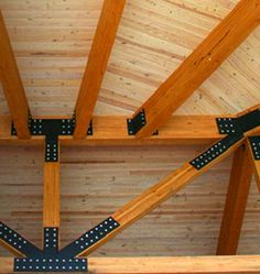 Glulam timber wood roof truss Boozer laminated beam company