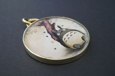 Unique handmade brass and resin Totoro pendant Handmade Silver Jewellery, Silver Jewelry, Resin Pendant, Totoro, Pocket Watch, Brass, Unique, Accessories, Pocket Watches