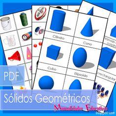 Manualidades Educativas: Sólidos Geométricos Montessori - Tarjetas para imprimir