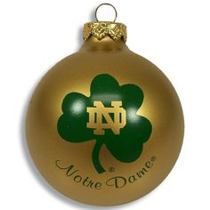 Notre Dame Football Christmas Ornament | ND Go Irish | Pinterest ...