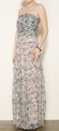 L'Agence White, Gray And Teal Dress