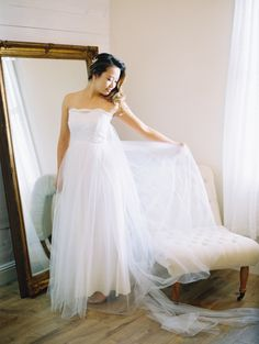 Tulle wedding dress | Photography: Wendy Laurel - http://www.wendylaurel.com/