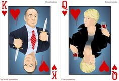 House of Cards Playing Cards ! #frankunderwood #claireunderwood