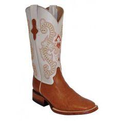 Ferrini Ladies Cognac/Pearl Cowhide Boots S-Toe 81093-02