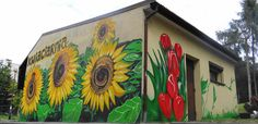 sunflowers graffiti artist for hire commercial