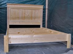 Ana White   Build a King Size Fancy Farmhouse Bed   Free and Easy DIY Project and Furniture Plans