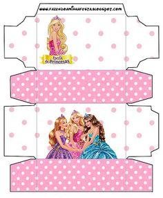 Barbie Escola de Princesas - Kit Completo com molduras para convites, rótulos para guloseimas, lembrancinhas e imagens! - Fazendo a Nossa Festa