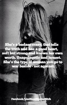American Hippie - She's badass crazy ... 100%Truth ... Remember That! A good hearted loving Women who takes no ones shit especially wildly inaccurate imaginary accusations! You really should see a doctor for your multiple personalities & narcissistic ways.  No wonder he ran from You/Y'all but especially YOU! #Quotes #Truth