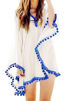 Womens Swimwear Beachwear Bikini Beach Wear Cover up Kaftan Summer Shirt Dress Advgears