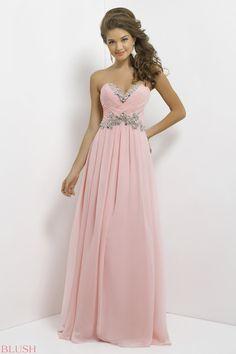 Robe de soiree rose strass