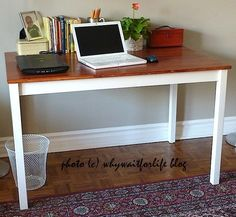 Excellent Pictures Best Pics IKEA Ingo table hack makeover into a study desk Strategies On among. Suggestions On certainly one of my really frequent trips to IKEA I discovered cheaper lacking platforms which w Ikea I, Ikea Lack, Diy Furniture Projects, Easy Projects, Furniture Redo, Ikea Table Hack, Barnwood Coffee Table, Diy On A Budget, Soft Furnishings