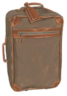 21ac5120ad1 Vintage Waxed Canvas and Leather Carry-On   The J. Peterman Company Vintage  Travel