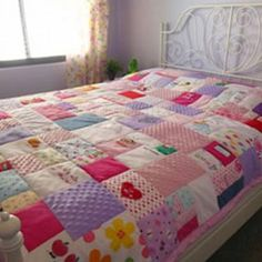 Absolutely love the quilt idea!! Up-cycling baby clothing