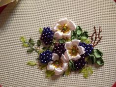 Wonderful Ribbon Embroidery Flowers by Hand Ideas. Enchanting Ribbon Embroidery Flowers by Hand Ideas. Ribbon Embroidery Tutorial, Silk Ribbon Embroidery, Beaded Embroidery, Embroidery Patterns, Hand Embroidery, Machine Embroidery, Ribbon Art, Ribbon Crafts, Ribbon Flower