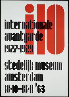 Internationale Avantgarde 1927-1929 Stedelijk Museum Amsterdam 18-10-18-11 '63 Juriaan Schrofer