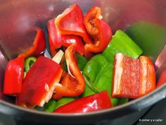 A comer y a callar: ARROZ CON POLLO CON THERMOMIX Pork, Stuffed Peppers, Vegetables, Ethnic Recipes, Sweet, Foods, Ideas, World, Arroz Con Pollo