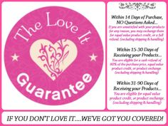"The ""Love It Guarantee"" by Younique <3 https://www.youniqueproducts.com/AshleyNRoss"
