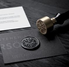 black sealing wax   via RedBird Paperie