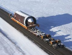 Oversized load heading for Fort McMurray from Red Deer - February 26, 2013