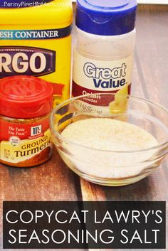If you have these ingredients in your pantry, you can make Lawry's seasoned salt at home in just a few minutes - saving you money! Homemade Chili Seasoning, Homemade Seasonings, Homemade Sauce, Seasoned Salt, Coconut Flour, Copycat Recipes, Vegan Gluten Free, Spices, Low Carb