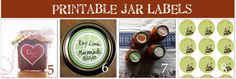 Free Printable Labels for Canning Mason Jars -- Gift Ideas As Well!
