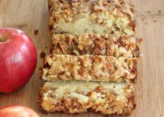 Homemade Bread Cinnamon Apple Bread Homemade by HappyBakeShop Apple Recipes, Fall Recipes, Bread Recipes, Baking Recipes, Apple Cinnamon Bread, Cinnamon Apples, Banana Bread, Eating Vegetables, Sweet Bread