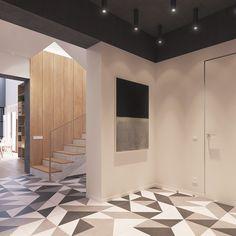 Splendida e semplice opera d'arte in toni di grigio in contesto nordico moderno - appartamento scandinavo