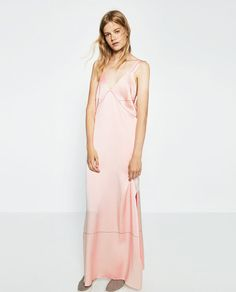 Image 1 of DRESS WITH CONTRASTING TOPSTITCHING from Zara