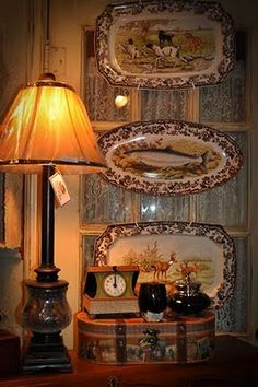 Spode Woodland platters...reminds me of my grandparents' home