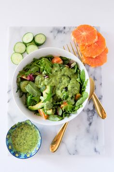 Citrus Avocado Salad with Lemon Parsley Dressing