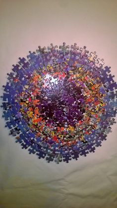 3D Puzzle Piece Wall Art by JessiesART77 on Etsy, $30.00