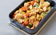 Quick Chili-Roasted Chicken and Vegetables