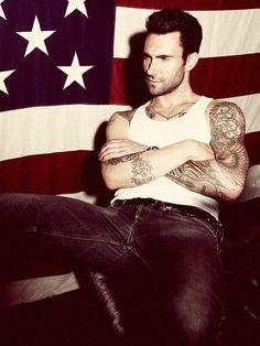 Adam Levine... Feeling super patriotic all of a sudden!