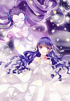 Tomoyo Daidouji with The Song Clow Card from the Card Captor Sakura anime and manga series by CLAMP