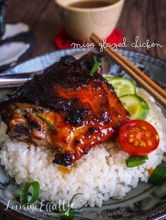 Miso Delicious Caramelised Sticky Miso Glazed Chicken Recipe In Miso Chicken, Glazed Chicken, Asian Chicken, Asian Recipes, Beef Recipes, Cooking Recipes, Chicken Thigh Recipes Oven, Chicken Recipes, Nigella