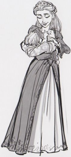 Queen with Baby Rapunzel (I know this is from Tangled, but this seriously reminds me of Lady Alexandria and Marylin).