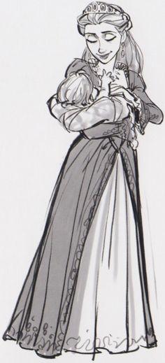 Queen with Baby Rapunzel
