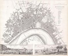 carte de Bordeaux 1832
